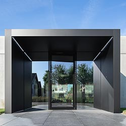 Architekturbüro mit Sichtbetonfassade