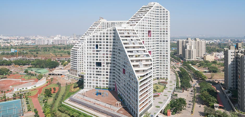 MVRDV's Future Towers Adds Over 1,000 New Residential Units to Pune, India in a Single Building