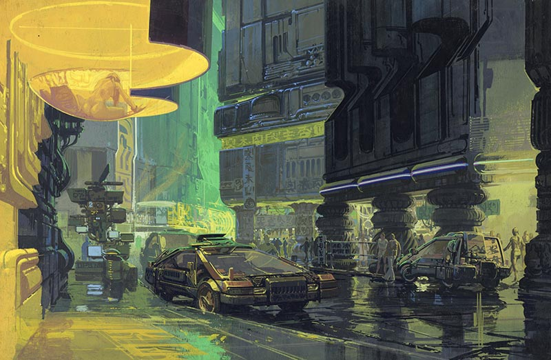 Downtown Cityscape Blade Runner. Bild: Syd Mead, 1981