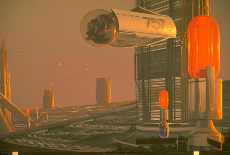 Future Urban Architecture. Bild: Syd Mead, 1979