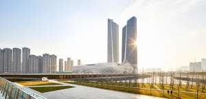 Nanjing International Youth Cultural Centre by Zaha Hadid Architects